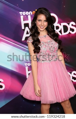 Ryan Newman at the 2012 TeenNick HALO Awards, Hollywood Palladium, Hollywood, CA 11-17-12