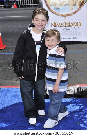 "Ryan Ochoa & Raymond Ochoa at the world premiere of ""Nim's Island"" at Grauman's Chinese Theatre, Hollywood. March 30, 2008  Los Angeles, CA Picture: Paul Smith / Featureflash"