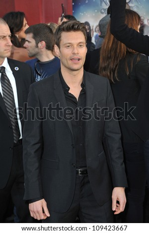 "Ryan Seacrest at the world premiere of ""Rock of Ages"" at Grauman's Chinese Theatre, Hollywood. June 9, 2012  Los Angeles, CA Picture: Paul Smith / Featureflash"