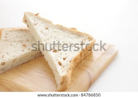 rye bread on wooden chopping board