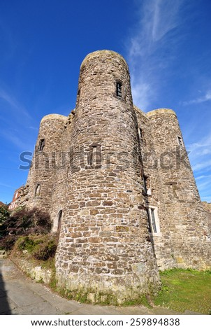 Rye Castle in Sussex, England was built in 1249 as a defence against the frequently invading French. - stock photo