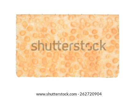 Rye, crisp bread isolated on white background. Top view. Clipping path