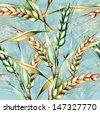 Rye Seamless Pattern - stock photo