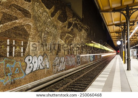 S-Bahn Savigny Platz Station in Berlin, Germany - stock photo