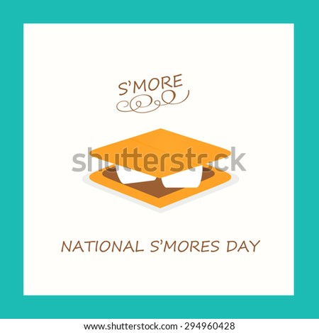 S'more - National S'mores Day - stock photo