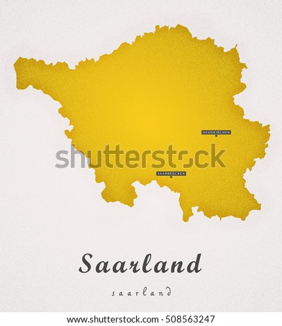 Saarland Germany DE Art Map