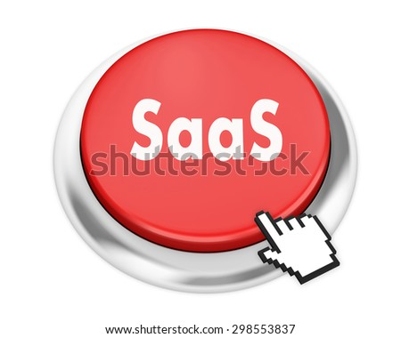 SAAS button on isolate white background