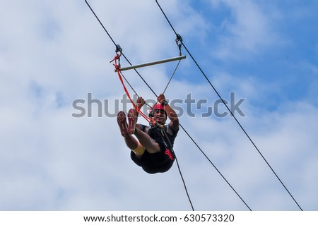 sabah malaysia   august 2016   men enjoying zip line flying over the forest flying foxes stock images royalty free images  u0026 vectors      rh   shutterstock