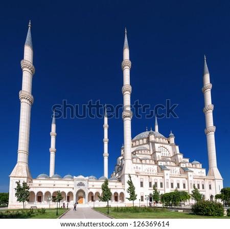 Sabanci Merkez Camii Mosque, Adana, Turkey - stock photo