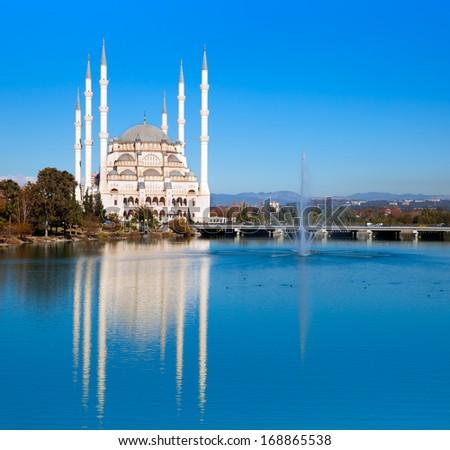 Sabanci Mosque , Adana Turkey - stock photo