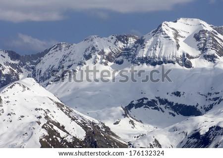 Sabocos peak (2757 m), Tendenera mountains, Tena Valley, Pyrenees, Huesca, Aragon, Spain - stock photo