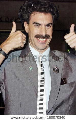 Sacha Baron Cohen at Premiere BORAT Cultural Learnings of America for Make Benefit Glorious Nation of Kazakhstan, Mann's Grauman Chinese Theater, Hollywood, CA, October 23, 2006 - stock photo