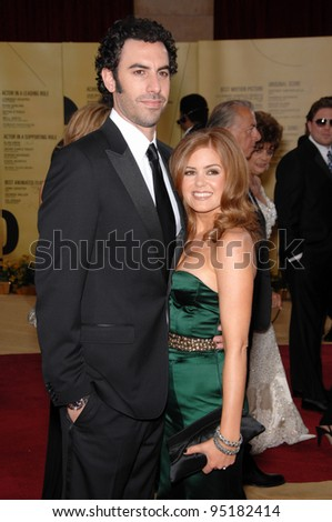 Sacha Baron Cohen & Isla Fisher at the 79th Annual Academy Awards at the Kodak Theatre, Hollywood. February 26, 2007  Los Angeles, CA Picture: Paul Smith / Featureflash