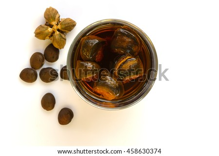 sacha in-chi, star inca peanut seed on wooden background