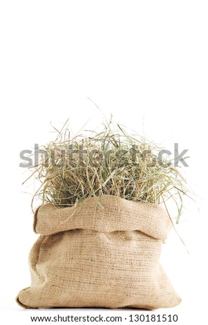 Sack of Organic Hay - stock photo