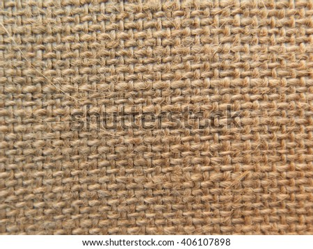 Sack texture in a close up