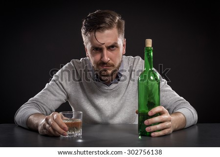 Sacked Manager With Bottle - stock photo