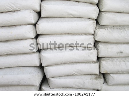 Sacks, cement bags