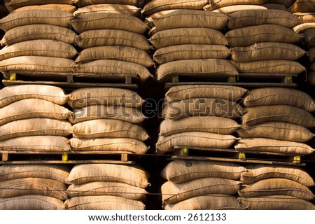 sacks in warehouse