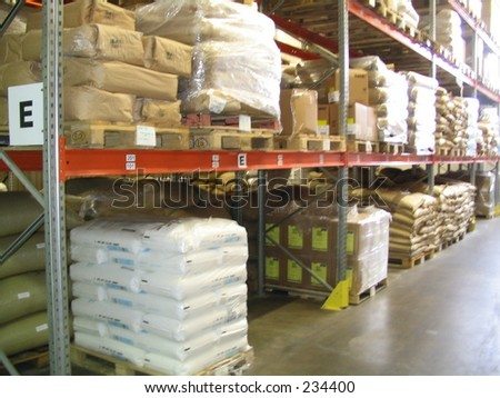 sacks with product