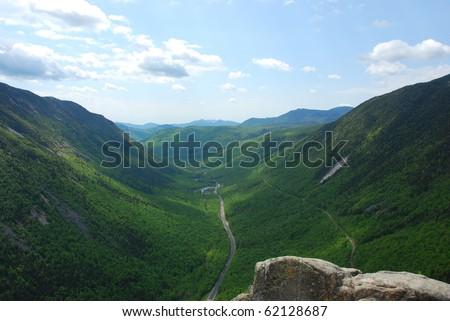 Saco River Valley, Crawford Notch, NH - stock photo