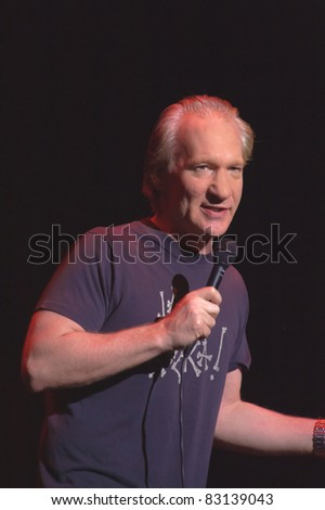 SACRAMENTO, CA - AUG 19: Bill Maher performs at Sacramento Convention Center in Sacramento, California on August 19th, 2011