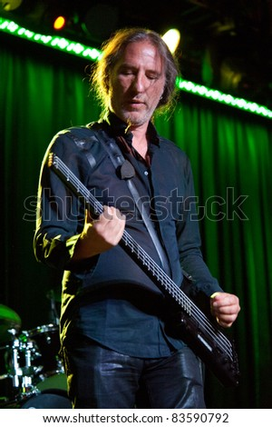 SACRAMENTO, CA - AUG 26: Nick Feldman  of Wang Chung performs at Thunder Valley Casino in Lincoln, California on August 26th, 2011