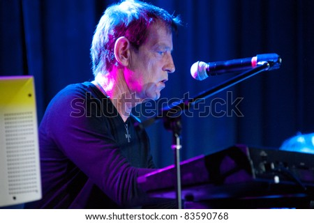 SACRAMENTO, CA - AUG 26: Rupert Greenall of the Fixx performs at Thunder Valley Casino in Lincoln, California on August 26th, 2011