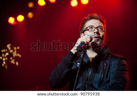 SACRAMENTO, CA - DEC 10: Danny Gokey performs in KNCI's Country xmas at Power Balance Pavilion in Sacramento, California on December 10, 2011