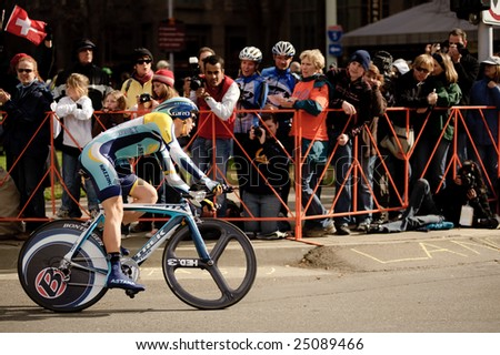 SACRAMENTO, CA - February 14, 2009: Steve Morabito Competes in the 2009 AMGEN Tour in Sacramento, CA