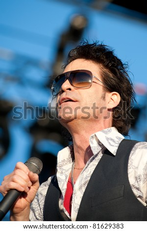 SACRAMENTO, CA - JULY 24: Pat Monahan with Train performs at Thunder Valley Casino and Resort in Lincoln, California on July 24th, 2011