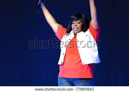 SACRAMENTO, CA - MAY 23: Amber Riley performs at the Glee Live! In Concert! tour at the Power Balance Pavilion on May 23, 2011 in  Sacramento, California. - stock photo