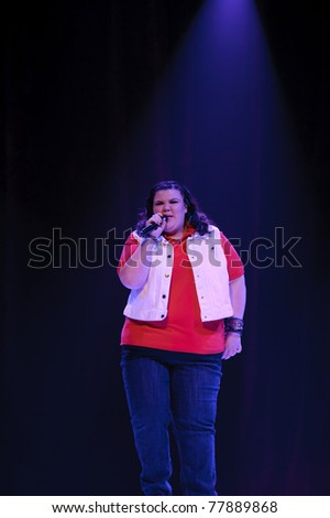 SACRAMENTO, CA - MAY 23: Ashley Fink perform at the Glee Live! In Concert! tour at the Power Balance Pavilion on May 23, 2011 in  Sacramento, California. - stock photo