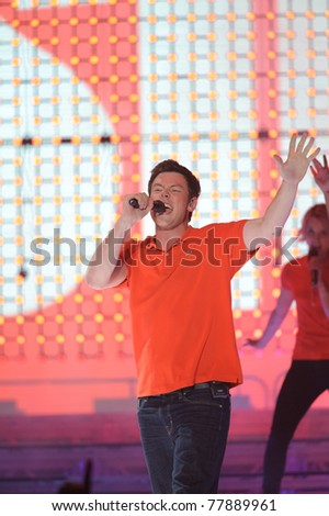 SACRAMENTO, CA - MAY 23: Corry Montieth performs at the Glee Live! In Concert! tour at the Power Balance Pavilion on May 23, 2011 in  Sacramento, California. - stock photo