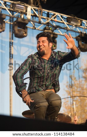 SACRAMENTO, CA - SEPTEMBER 23: Chino Mareno of the Deftones performs at Aftershock music festival featuring Bush, Deftones, STP,  Discovery Park in  Sacramento, CA on September 23, 2012 - stock photo