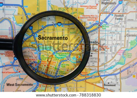 sacramento on usa map