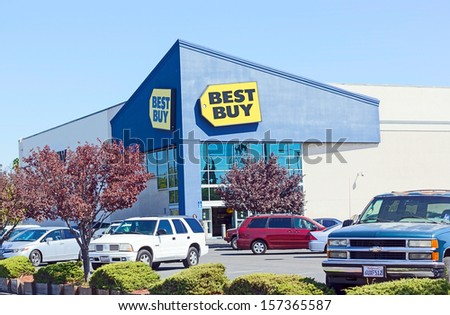 SACRAMENTO, USA - SEPTEMBER 19: Best Buy store on September 19, 2013 in Sacramento, California. The Best Buy Company, Inc. is an American multinational consumer electronics corporation.