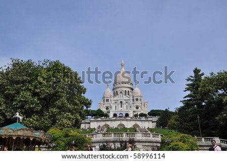 Sacre Coer in Paris, France