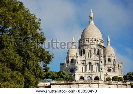 Sacre Couer in Paris. - stock photo