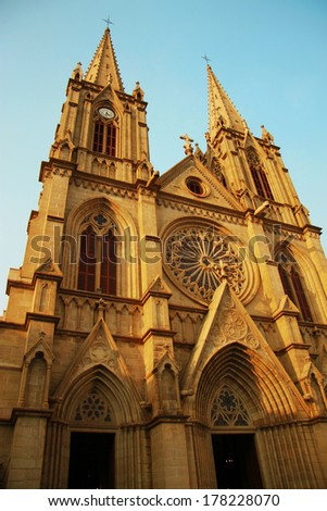Sacred Heart catholic cathedral in the Guanzhou China - stock photo