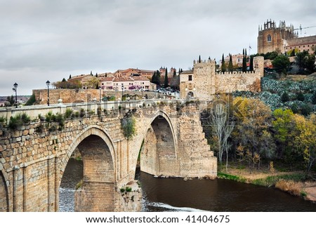Sacred Martin's bridge in Toledo, Spain