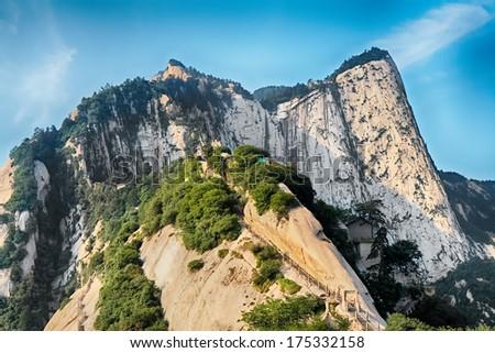 Sacred mountain Huashan, Xi'an, China - stock photo