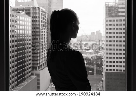 Sad and depressed woman. - stock photo