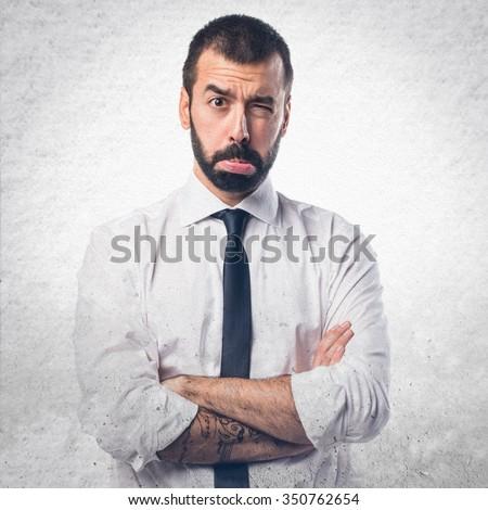 Sad Businessman - stock photo