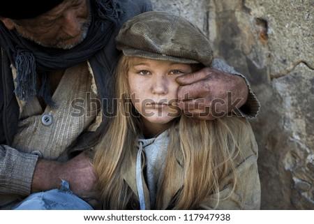 Sad family - stock photo