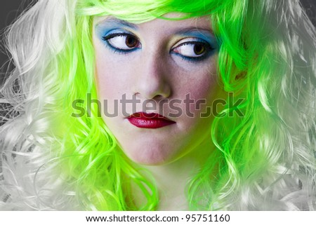 sad green fairy girl ecologic