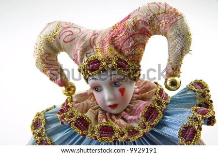 Sad harlequin - stock photo