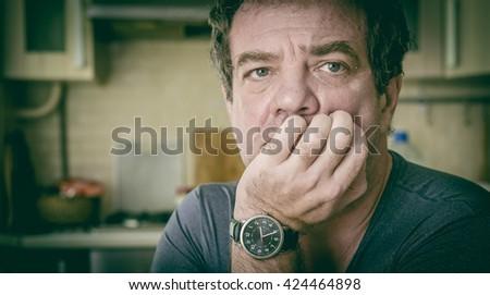 Sad man.  - stock photo