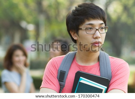 Sad Student - stock photo