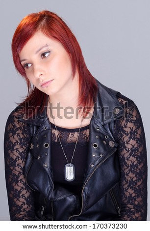 Sad teenager portrait - stock photo